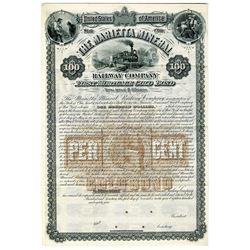 Marietta Mineral Railway Co., 1884 Specimen Bond Rarity.