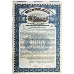 Mobile and Ohio Railroad Co., 1913 Specimen Bond