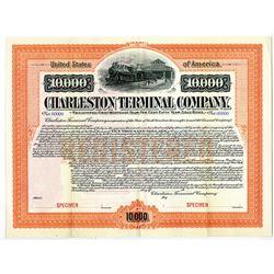 Charleston Terminal Co. 1903 Specimen Bond