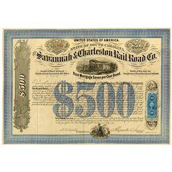 Savannah & Charleston Railroad Co., 1869 I/U Bond