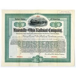 Knoxville and Ohio Railroad Co., 1903 Specimen Bond