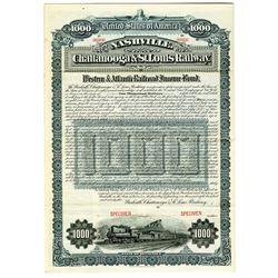 Nashville, Chattanooga & St. Louis Railway 1895 Specimen Bond Rarity
