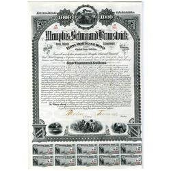 Memphis, Selma and Brunswick Rail Road Co. 1882 I/U Bond