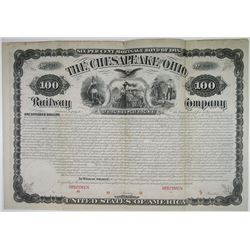Chesapeake and Ohio Railway Co. 1878 Unlisted Specimen Bond Rarity