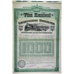 Central Washington Railroad Co., 1888 Specimen Bond