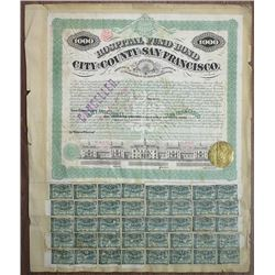 Bond of the City and County of San Francisco, 1871, $1000 Bond