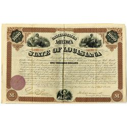 State of Louisiana 1871 I/U Bond.