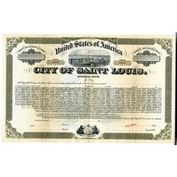 "City of Saint Louis, ca.1929 Specimen ""Hospital"" Bond"
