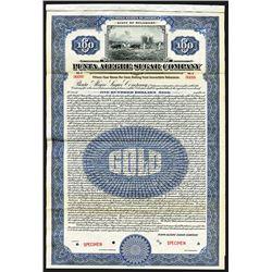 Punta Alegre Sugar Co., 1922 Specimen Bond.