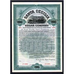 Santa Cecilia Sugar Co., 1905 Specimen Bond.