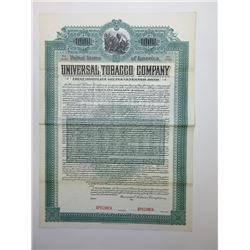 Universal Tobacco Co., 1903 Specimen Bond.