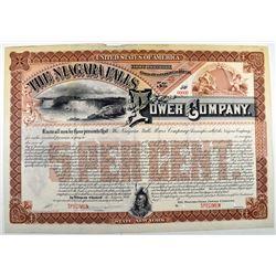 Niagara Falls Power Co., 1901-1909 Specimen Registered Bond.