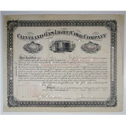 Cleveland Gas Light and Coke Co., 1891 I/C Stock Certificate