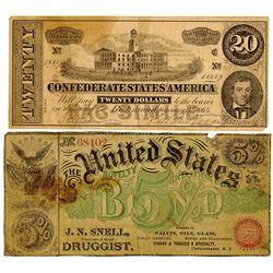 Drug Store and Medicine Ad Note Pair ca.1860-80's.