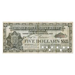 Kansas City Clearing House Association, 1907 Depression or Panic Currency.