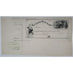 First National Bank of Ironton, 1880's (1939 Cancellation Proof) Certificate of Deposit.