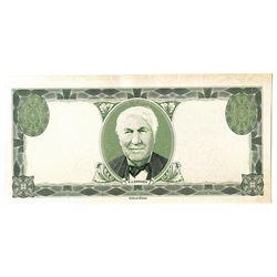 """Ashton-Potter """"Thomas Edison"""" 1920-30's Sample Note similar to ABN Ad Notes."""