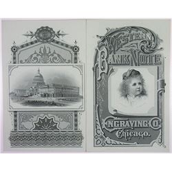 Western Bank Note Company, ND (ca.1880-90's) Advertising Folder