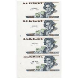 De La Rue Giori S.A. Varinota Specimen ca.1990-1994 Printed with DuraNote Polymer Paper.