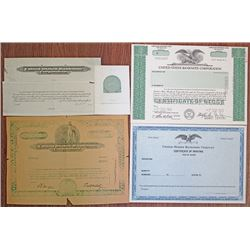 United States Banknote Co. ca. 1950-60's Specimen & Proof Stock Certificates & Production Materials.