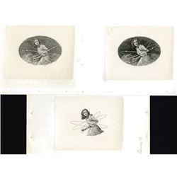 ABNC Progress Intaglio Large Die Proof, ca.1975 Trio of Lavin Designed Female Figure.