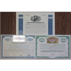 Holograms  Used on Stock Certificates, ca.1985-88.