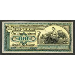 ABN Experimental Advertising Banknote ca. 1890's-1900 Modeled After Brazil Banknote.