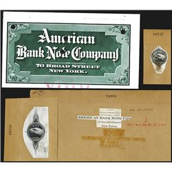American Bank Note Co., 1930-40's Advertising & Letterhead Proof Vignettes