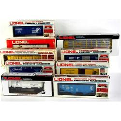 Assortment of Lionel Box Cars