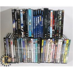 A LOT OF 52 SEALED DVDS VARIETY