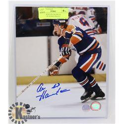 NHL EDMONTON OILERS AL HAMILTON SIGNED PHOTO