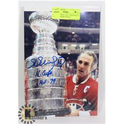 NHL MONTREAL CANADIENS HOF 79 HENRI RICHARD SIGNED