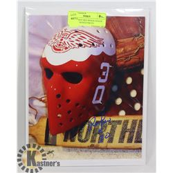 NHL DETROIT RED WINGS GOALIE RON LOW SIGNED PHOTO