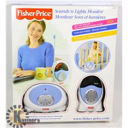 FISHER PRICE SOUNDS & LIGHTS BABY MONITOR