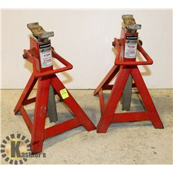 SET OF 2 JACK STANDS (2 TONS)