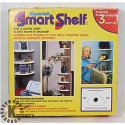 SMART SHELF SET -SET OF 3 CORNER SHELVES