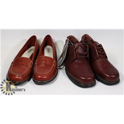 NEW WOMEN'S LEATHER SHOES,  SOFT SOLES AND IZOD