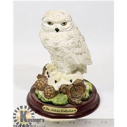 THE NATALIA COLLECTION WHITE OWL SCULPTURE