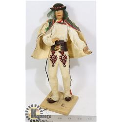 SPANISH / MEXICAN SCULPTURE OF A MAN
