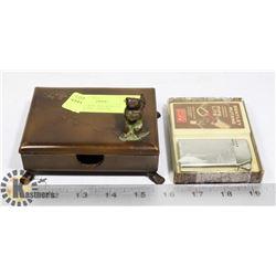 TRINKET BOX AND BENTLEY BUTANE PIPE LIGHTER