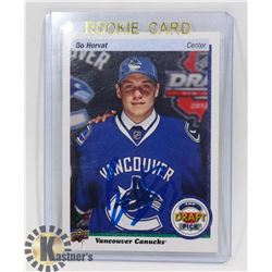 BO HORVAT VANCOUVER CANUCKS AUTOGRAPHED RC CARD