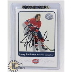 LARRY ROBINSON MONTREAL CANADIENS SIGNED CARD