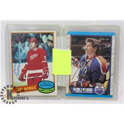 HOCKEY HALL OF FAMER 2 AUTOGRAPHED CARD LOT