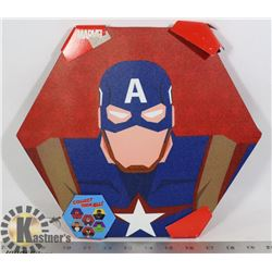 NEW CAPTAIN AMERICA SHAPE WALL HANGING