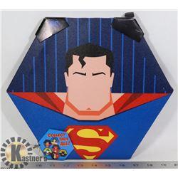 NEW SUPERMAN HEXAGON SHAPE WALL HANGING