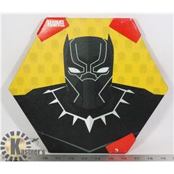 NEW BLACK PANTHER HEXAGON SHAPE WALL HANGING