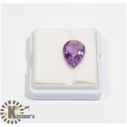#94-PURPLE AMETHYST GEMSTONE PEAR SHAPE 3.5ct