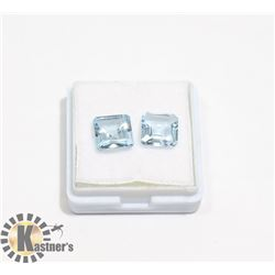 #47-SKY BLUE TOPAZ GEMSTONE SQUARE 5.5ct