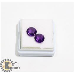 #30-PURPLE AMETHYST GEMSTONE ROUND 3.5ct