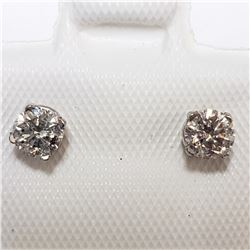 14K WHITE GOLD DIAMOND(0.36CT)  EARRINGS